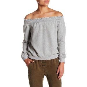 Pam & Gela Off Shoulder Sweatshirt Size S